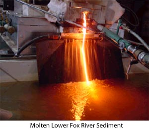 Molten Lower Fox River Sediment